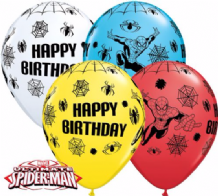 Spiderman Birthday Balloons - 11 Inch Balloons (25pcs)